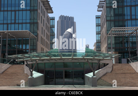 Moderne Architektur Zentrum in Dubai, Vereinigte Arabische Emirate - Stockfoto