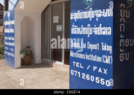Mikrofinanz-Institution-Niederlassung in Luang Prabang, Laos - Stockfoto