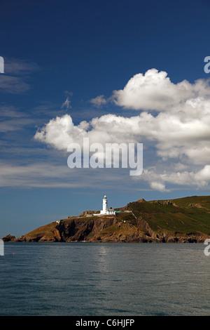 Start Point Leuchtturm an der Küste von South Devon, England, UK - Stockfoto