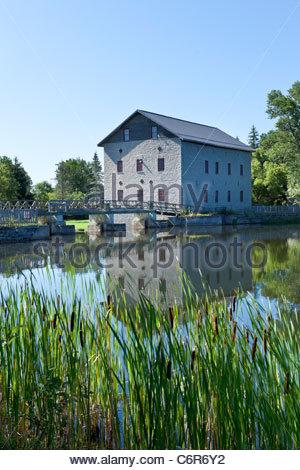 Lang Papierfabrik eine historische Mahlgutmühle jetzt ein Museum auf dem Indian River bei Lang Ontario Canada - Stockfoto