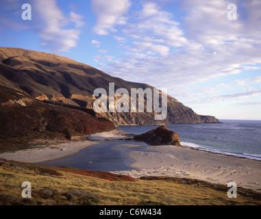 Küsten Blick vom Pacific Highway 1, Big Sur, Kalifornien, Vereinigte Staaten von Amerika - Stockfoto