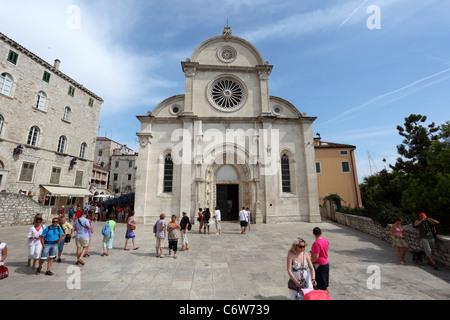 Kathedrale von St. Jakob in Sibenik, Kroatien - Stockfoto
