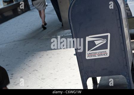 Ein Postfach USPS ist im New Yorker Stadtteil Manhattan, NY, Dienstag, 2. August 2011 abgebildet. - Stockfoto