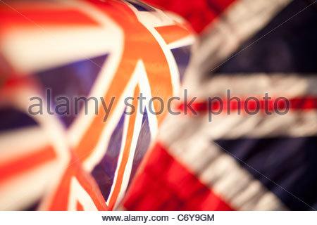 Nahaufnahme der Union Jack-Flagge - Stockfoto