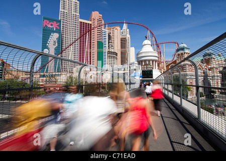 Vereinigte Staaten von Amerika, Nevada, Las Vegas, Hotels und Casinos am Strip entlang - Stockfoto
