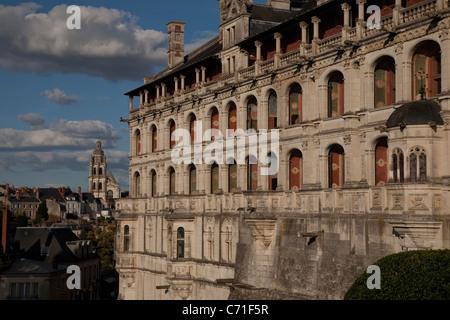 Fassade des Chateau du Blois; Blois; Loire-Tal; Frankreich; Europa - Stockfoto