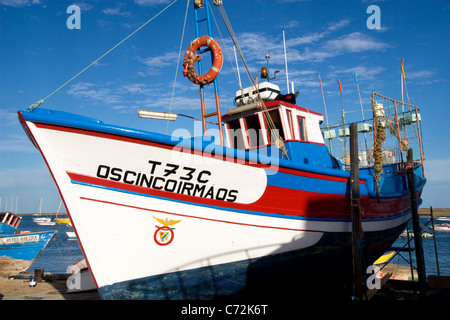 Angelboot/Fischerboot, Santa Luzia, Tavira, Algarve, Portugal