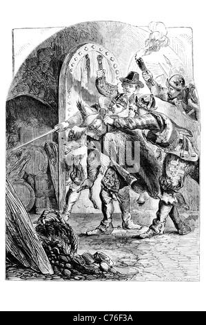Guy Fawkes Guido Fawkes Bekämpfung der englischen Katholiken Schießpulver-Plot 1605Lord Monteagle anonymen Brief - Stockfoto