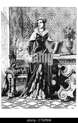 Lady Jane Grey die neun Tage Königin englische Adlige Monarch Tower of London hingerichtet. Hochverrat regal Royal - Stockfoto