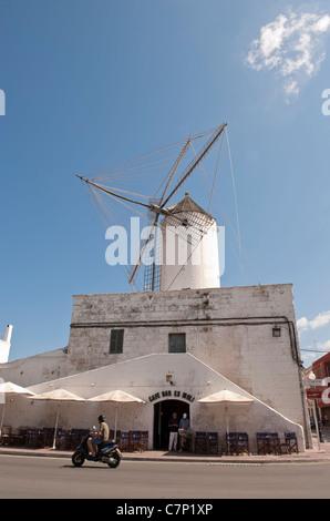 Mühle von traditionellen Gill auf Menorca Ciutadella / Menorca, Balearische Inseln, Spanien - Stockfoto