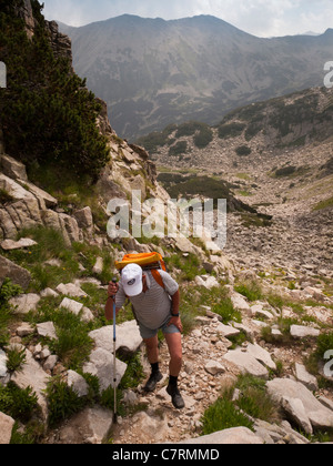 Wandern im Pirin Gebirge, Nationalpark Pirin, Bulgarien, South Eastern Europe - Stockfoto