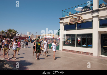 Schnittpunkt von Pier Ave und den Strang, Hermosa Beach, Los Angeles, Kalifornien, USA. - Stockfoto