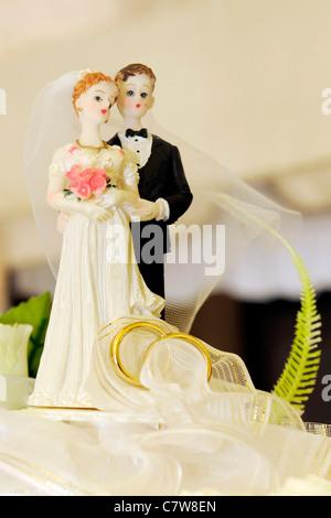 Braut und Bräutigam Figuren - Stockfoto