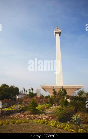 Nationaldenkmal (MONAS) in Merdeka Square, Jakarta, Java, Indonesien - Stockfoto