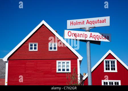 Rote Häuser Bilder häuser nuuk grönland stockfoto bild 41688999 alamy