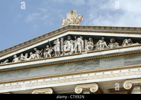 Fries der Akademie von Athen in Griechenland. - Stockfoto