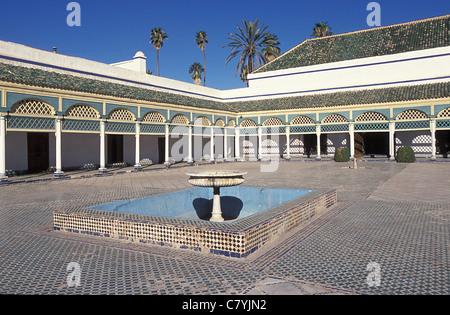 Marokko, Marrakesch, Hof der Bahia-Palast - Stockfoto