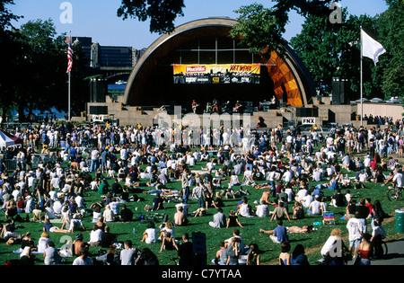 USA, Massachusetts, Boston, Konzert im Hatch Shell - Stockfoto