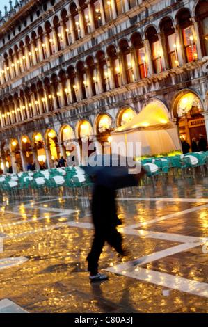 Italien, Veneto, Venedig. Markusplatz - Stockfoto