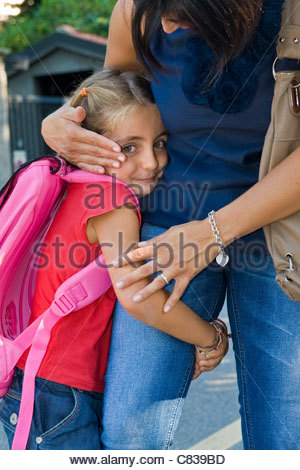 erster Tag in der Schule - Stockfoto