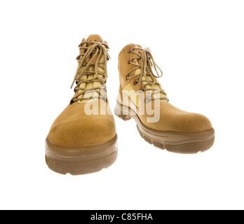 Stiefel zum Wandern der Wüste Armee neue Militärschuhe Verschleiß Fuß Füße Studio Marke Brandnew Schuhleder - Stockfoto