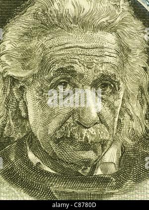 Albert Einstein (1879-1955) auf 5 Pfund 1968 Banknote aus Israel. Deutscher theoretischen Physiker, gilt als der - Stockfoto