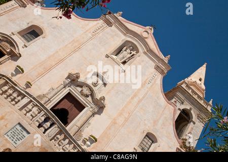 San Giuseppe Church, Piazza IX Aprile, Taormina, Sizilien, Italien - Stockfoto