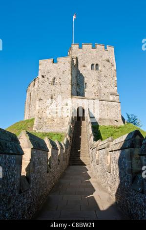 Arundel Castle halten. arundel West Sussex England Großbritannien - Stockfoto