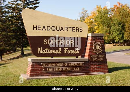 Zentrale Anmeldung für Superior National Forest - Duluth, Minnesota. - Stockfoto