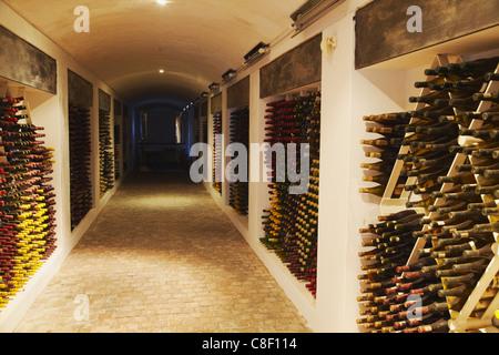 Keller des Jahrgangswein, Boschendal Wine Estate, Franschhoek, Westkap, Südafrika - Stockfoto