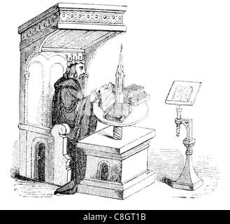 frühe englische Möbel Thron Krone König königlich royal imperial souveräner Herrscher Monarch Potentat gekrönte - Stockfoto