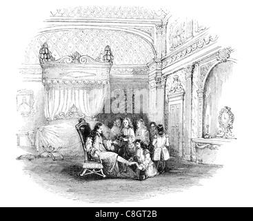Schlafzimmer-Möbel von Louis XIV König königlich royal imperial souveräner Herrscher Monarch Potentat gekrönte Haupt - Stockfoto