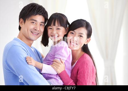Junge chinesische Familie - Stockfoto