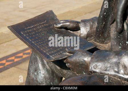 """Detail von der Statue der """"Jack Judge und WW1 Soldat"""" im Herrn Pendry Square, Stalybridge, Tameside, Gtr. Manchester, - Stockfoto"""