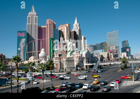 New York Casino Statue of Liberty Las Vegas Strip Glücksspiel Hauptstadt der Welt-USA-Nevada - Stockfoto