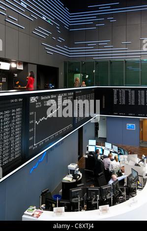 Handelssaal der Börse Frankfurt, Hessen, Deutschland. - Stockfoto