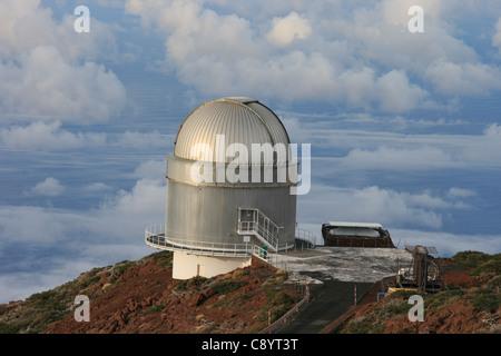 Nordic Optical Telescope, nicht auf El Roque de Los Muchachos, der Gipfel von La Palma auf den Kanarischen Inseln, - Stockfoto