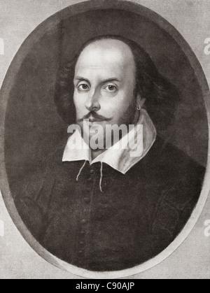 William Shakespeare, 1564-1616. Englischer Dichter und Dramatiker. Aus der Bibby Jahresbericht veröffentlicht 1910. - Stockfoto