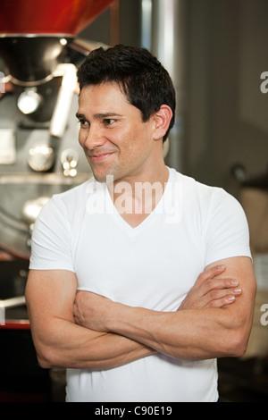 Kellner im Café, Porträt - Stockfoto