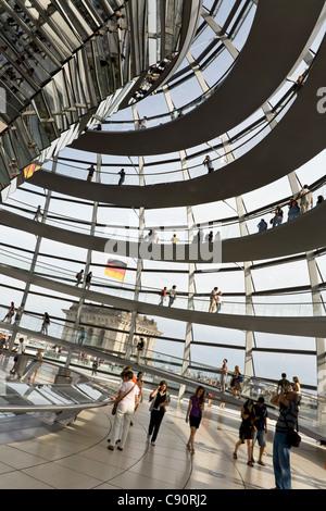 Im Inneren der Kuppel des Reichstags, Berlin, Deutschland - Stockfoto