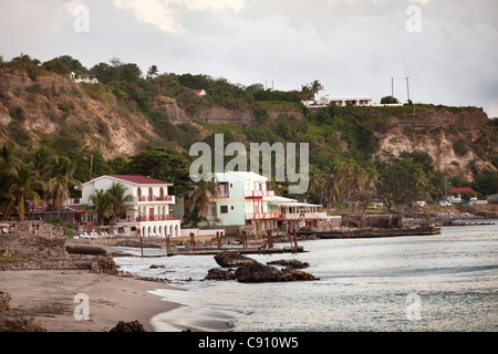 Den Niederlanden, Oranjestad, Sint Eustatius Insel, Niederländische Karibik. Unterstadt. - Stockfoto
