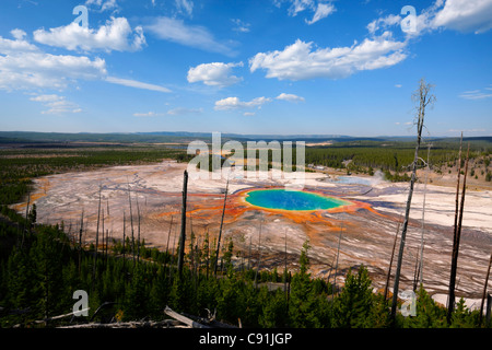 Grand Prismatic Spring, Midway Geyser Basin, Yellowstone-Nationalpark - Stockfoto