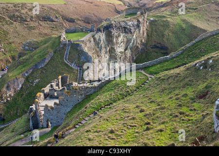 Tintagel Castle, Cornwall, Vereinigtes Königreich - King Aurthur legendären Camelot - Stockfoto