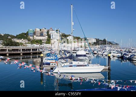 England-Devon-Torquay-Marina (neuer Hafen) - Stockfoto
