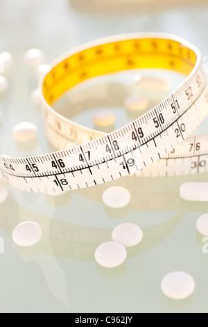 Diät-Pillen, Konzeptbild. - Stockfoto