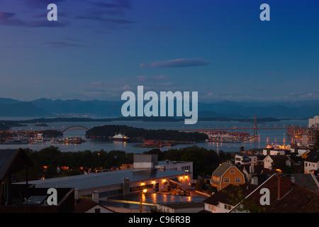 Skyline Stadt Stavanger, Norwegen. - Stockfoto