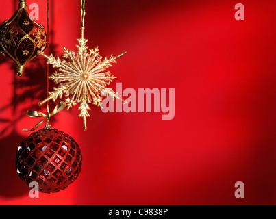 Schöne Weihnachten Dekoration künstlerischen Stillleben Hintergrund - Stockfoto