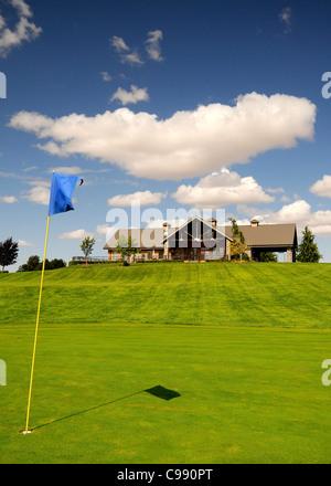 Drei-Loch-Minigolfanlage an der Three Hills Weingut Walla Walla Washington State, USA - Stockfoto
