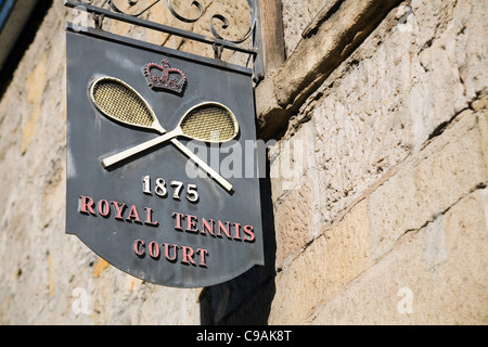 Tennis-Königshof in Hobart.  Das Gericht ist eine von nur fünf königlichen Tennisplätze in Australien. Hobart, Tasmanien, - Stockfoto