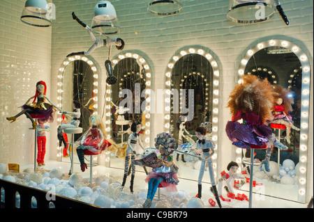 Frankreich, Paris, animierte Fenster von Weihnachten von den ...